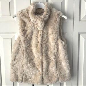 Zara Girls l Faux Fur Vest Cream